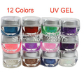 DIY New Mix 12 Colors Glitter UV Builder Gel Acrylic Set for Nail Art Tips
