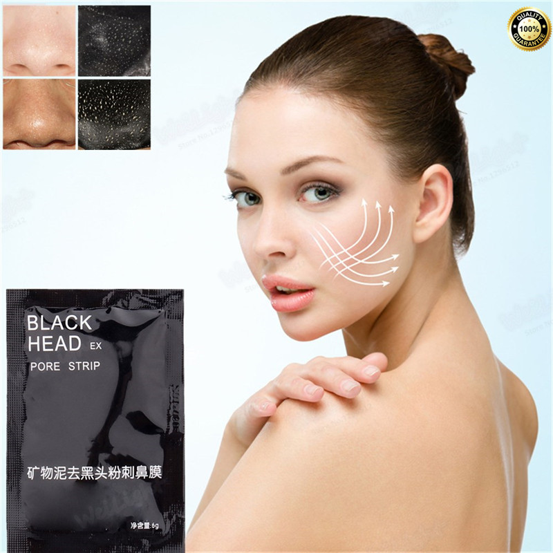 The best effect Suction Black Mask for face skin care, Facial Mask Nose Blackhead Remover Peel Off Black Head Acne Treatments