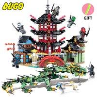 Ninja Movie Action Figures Building Blocks Set Toys Compatible Legos Ninjago Dragon Ninjagos Temple Bricks Toys