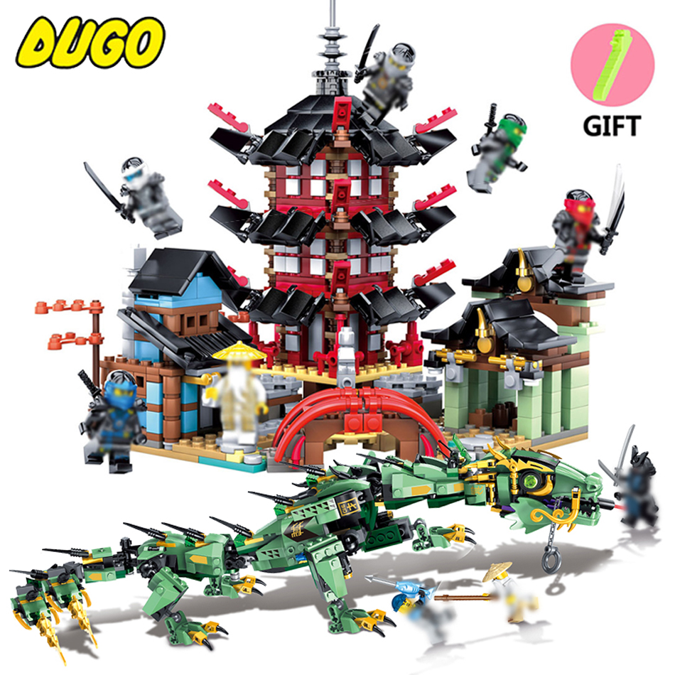 Ninja Movie Action Figures Building Blocks Set Toys Compatible Legos Ninjago Dragon Ninjagos Temple Bricks Toys For Children ninjago set green mech dragon building blocks kids hot toys ninja bricks mini action figures enlighten toy legoinglys figure