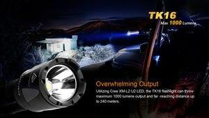 Image 4 - 2018 Новый Fenix TK16 Cree XM L 2 (U2) светодиодный фонарик 5 режимов Max 1000 люмен Водонепроницаемый спасательной Поиск тактический фонарь фонарик