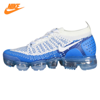 NIKE AIR VAPORMAX FLYKNIT Men's Running Shoes,Outdoor Sneakers Shoes, White & Blue, Shock Absorption Breathable 942843 104