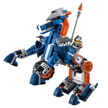 цена на 2016 New BELA Building Blocks Knight Lance's Mecha Horse Set Gifts Toys Compatible with legoINGlys Nexus Knights 70312