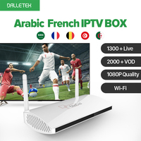 IPTV Streaming Box 1400 Europe Arabic Sky IPTV Channels Package Leadcool Android Wifi 1G 8G Italy