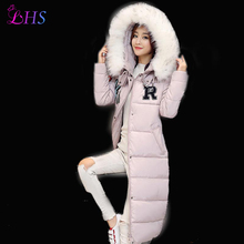 2016 Size M 2XXL Women Winter Jacket Warm Parka Army Green Pink Down Long Coat Thicken