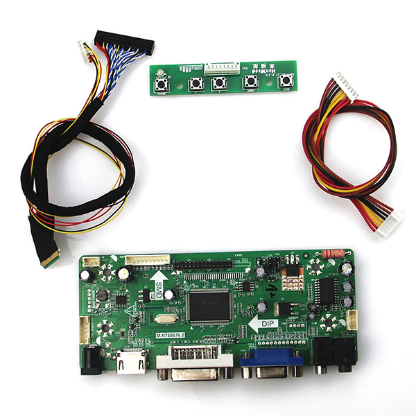 M.NT68676 LCD/LED Controller Driver Board For N121IB-L06 (HDMI+VGA+DVI+Audio) LVDS Monitor Reuse Laptop 1280*800