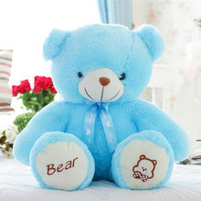 Teddy Bear Push Toy Lovely Blue Bear Many Size To Choose Lover's Gift Birthday G