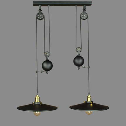 Nordic american country creative retro lamp iron bar restaurant nordic american country creative retro lamp iron bar restaurant pulley chandelier lighting designer in pendant lights from lights lighting on aloadofball Image collections