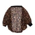 La primavera y el otoño de la mujer suéter cardigan sexy leopardo de manga larga camisa suéter