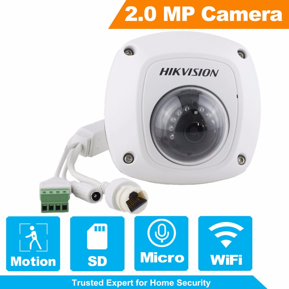 HIKVISION CCTV Camera 4MP WiFi IP Camera DS-2CD2522FWD-IWS 1080P Full HD Mini Dome Security Camera with Audio Function touchstone teacher s edition 4 with audio cd