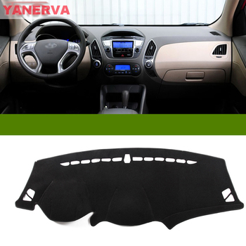 Interior Car Dashboard Cover Light Avoid Pad Photophobism Mat Sticker For Hyundai IX35