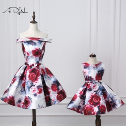 ADLN Mother and Daughter Dress  New Arrival Amazing Floral Formal Evening Prom Dresses A-line Mother Daughter Matching