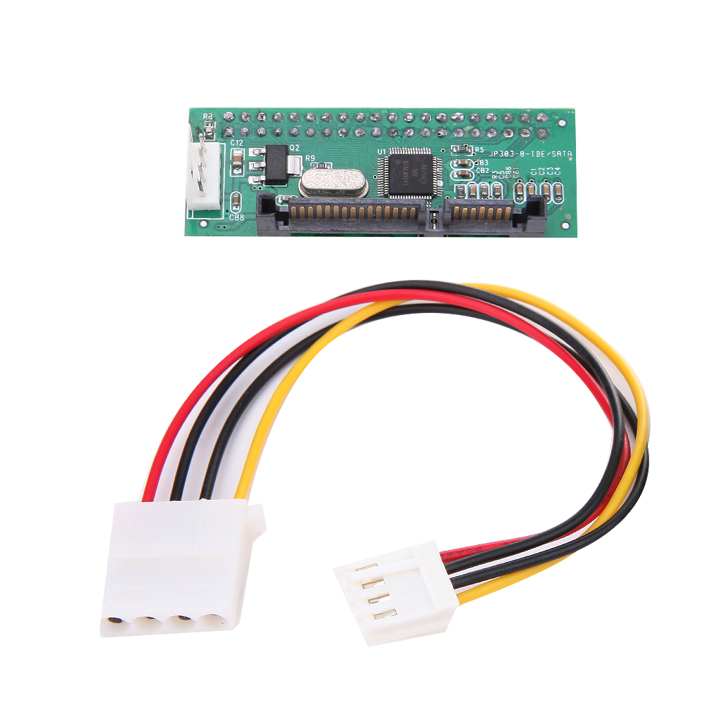 Stable  IDE To Serial SATA Adapter Converter For HDD DVD with 4 Pin Power Cable for IDE CD-ROM/recorder/ 3.5inch HDD