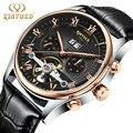 Reloj Hombre 2019 KINYUED Топ люксовый бренд автоматические механические мужские классические часы кожаные деловые мужские наручные часы месяц недел...
