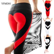 Love Heart Printed Women Fitness Leggins Mesh Pants Push Up High Waist Sexy Workout Leggings 2019 Spring Casual Ladies Trousers арно даниель навуходоносор ii царь вавилонский