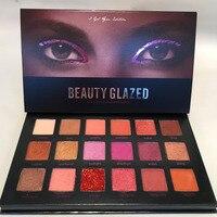BEAUTY GLAZED 18 Color Eyeshadow Palette Shimmer Matte Diamond Glitter Palette Eye Shadow maquiagem Makeup Palette