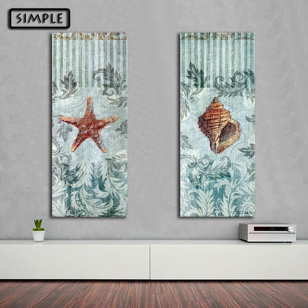Online kopen Wholesale zeester wall art uit China zeester wall art ...