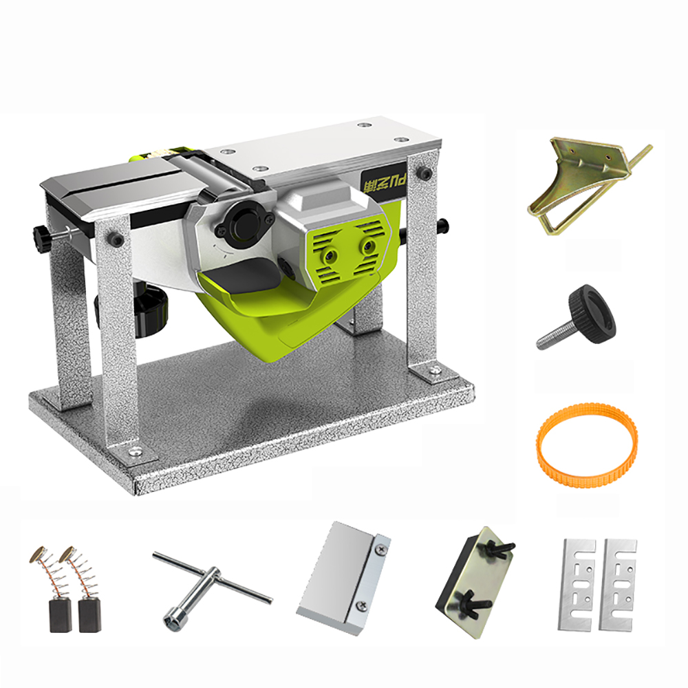 220V Electric Wood Planer Multifunctional Woodworking Planer Portable Desktop Carpentry Planer Planing Machine 1000W Y