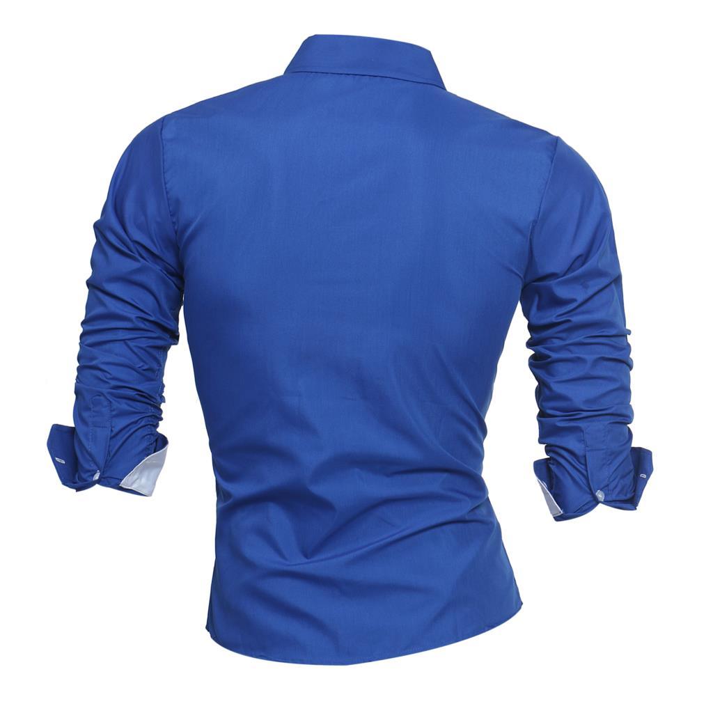 9c8650b06d7 Brand 2018 Fashion Male Shirt Long Sleeves Tops Letter Print Mens Dress Shirts  Slim Men Shirt Plus Size 4XL-in Dress Shirts from Men s Clothing on ...