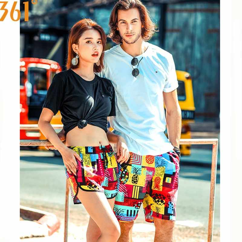 2cbbcf056 361 Couple Matching Swimsuit Men Women Beach Shorts Quick Dry Surfing Pants  Board Shorts Swimming Trunks