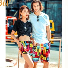361 Couple Matching Swimsuit Men Women Beach Shorts Quick Dry Surfing Pants Board Swimming Trunks Sports Swim