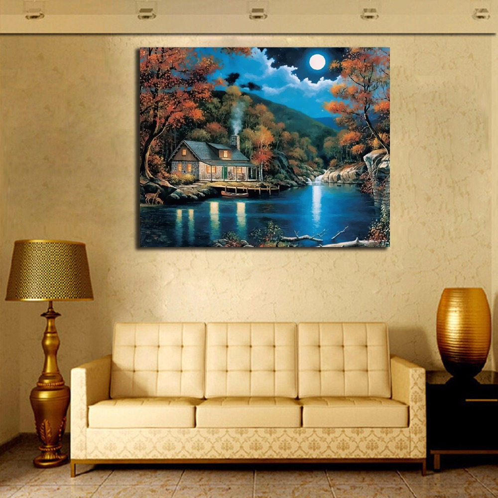 Frameless Pictures Painting By Numbers Wall Art DIY Digital Canvas ...