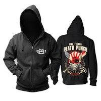 Bloodhoof Five Finger Death Punch Heavy Metal Got Your Six Black Zipper Hoodie Asian Size