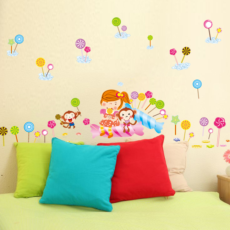 Color Cartoon Lollipop Little Pattern S Children Room Nursery Baby Decoration Stickers Early Learning Center In Wall From Home