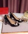 2017 Nova Primavera Mulheres Genuínas Sapatos De Couro De Salto Alto Mulheres Bombas Sapatos de Casamento Sapatos de Grife. DA037