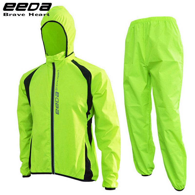 EEDA Handsome Bike Jacket Bicycle Pants Outdoor Cycling Raincoat Jerseys Road MTB Rainproof Cycling Rain Jackets Set Men 2016 newest rainproof santic cycling jacket multi function bicycle jerseys windproof breathable mtb bike clothing raincoat