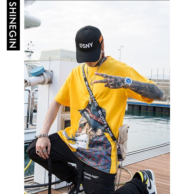 SHINEGIN Master Roshi T-shirt Streetwear hommes Harajuku Hip Hop décontracté à manches courtes drôle japonais hauts et t-shirts 347 S
