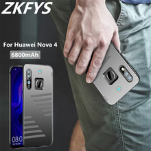 ZKFYS 6800mAh Ultra Thin Fast Charger Battery Cover For Huawei Nova 4 Case Portable High Quality Power Bank