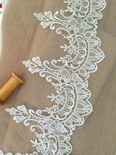 2 yards White Lace Trim Exquisite Teardrop Wedding Bridal Bracelet Jewelry Design , Veil