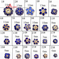 2016 New Brand 23/pc Jewelry Findings  chinese  Cloisonne pure handmade Spacers for women DIY Making project