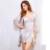 RW80340 Novedades Mujer Caliente Camisón Bata de Otoño E Invierno ropa de Noche de Seda Del Cordón Del Traje Atractivo de Las Señoras de Remolque Piezas Conjunto Pijama De Raso