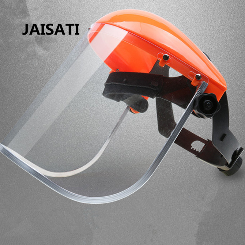 JAISATI PVC organic screen anti-splash mask automatic dimming protective masks jaisati transparent protective anti oil splash welding mask headset plexiglass protective masks