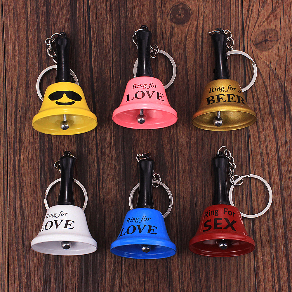 Vicney Colorful Bell Keychain For Friend Lover Key Chain For Key Fashion Jewelry Keychain For Girl's Gift