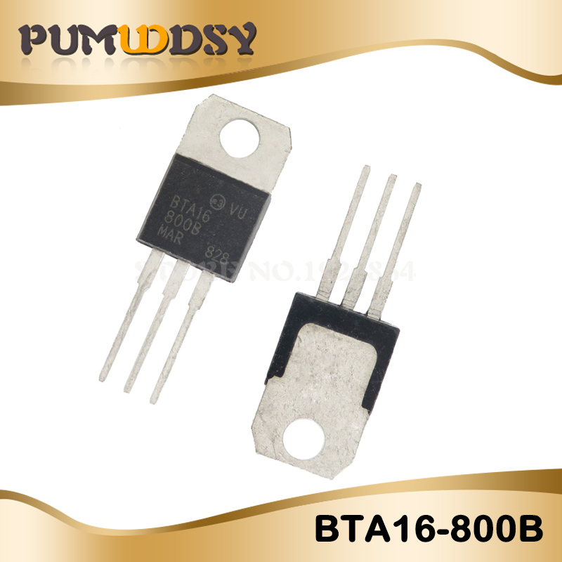 5pcs free shipping BTA16-800B BTA16-<font><b>800</b></font> BTA16 Triacs <font><b>16</b></font> Amp <font><b>800</b></font> Volt TO-220 new original image
