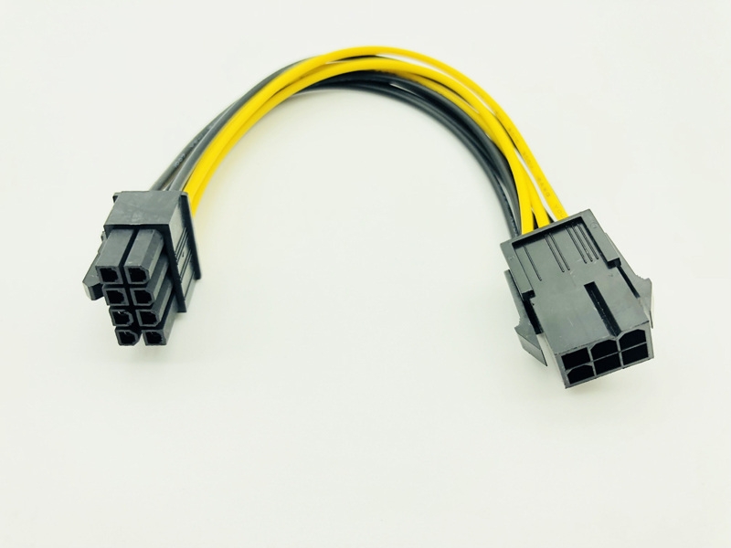 5pcs 6 Pin Feamle to 8 Pin Male PCI Express Power Converter Cable CPU Video Graphics Card 6Pin to 8Pin PCIE Power Cable for BTC-5
