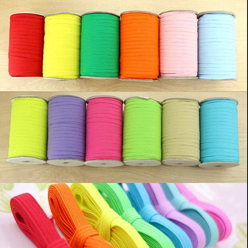 6MM 10YARDS Color Double Elastic Band, High Quality Wide