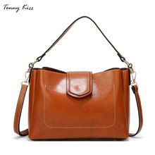 Tonny Kizz handbags for women vintage shoulder bags soft leather female tote solid color ladies crossbody high quality