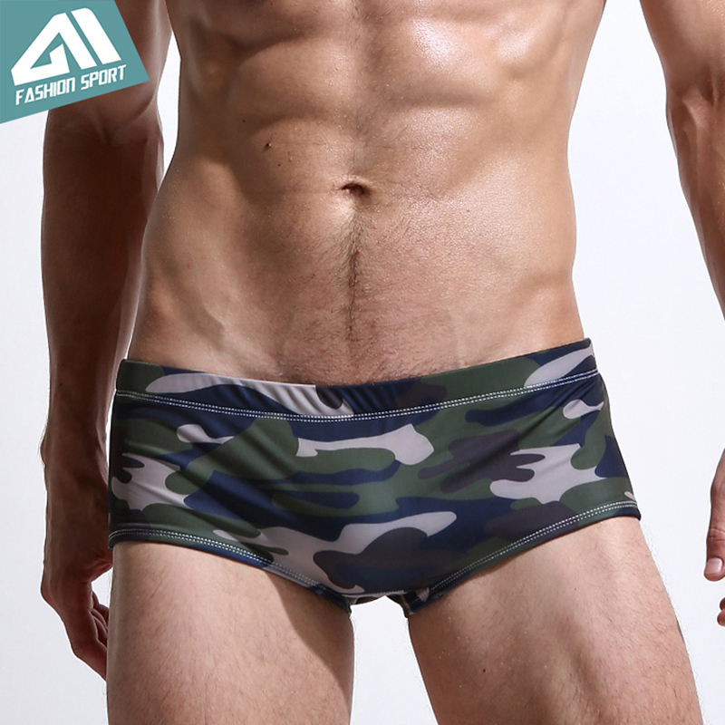 4554d8d54ac 2018 New Men's Swimwear Low Square Cut Men's Swimming Shorts Athletic  Surfing Men Swim Shorts Beachwear Sport Men Swimsuit SY05