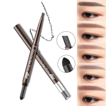 1pc Double-Ended 3D Eyebrow Pencil Double Head Natural Eye Brow Tint Cosmetics Waterproof Pigment for Eyebrows Black Brown