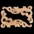 1 Pc Woodcarving Canto Do Decalque Applique Porta Quadro Decorar Móveis Portas de Parede Figuras Decorativas De Madeira Miniaturas De 19x11 cm