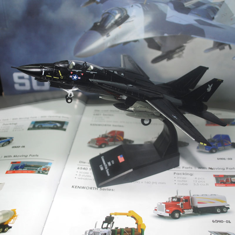 5pcs/lot Wholesale AMER 1/100 Scale Military Model Toys F-14 F14 Tomcat Fighter VX-4 EVALUATORS Diecast Metal Car Model Toy