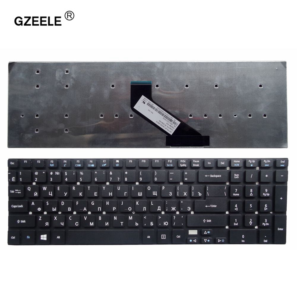 GZEELE NEW keyboard for ACER for Aspire V3 V3-571g V3-551 V3-771G 5755 5755g V5WE2 RUSSIAN laptop keyboard BLACK without frame laptop keyboard for clevo w670sfq w670sfq1 black without frame slovenian sv