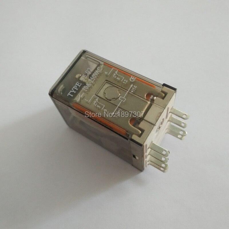 10 ピース 55.02 220 ボルト AC 10A 電気リレー、 55.02 保護リレー汎用リレー  グループ上の 家のリフォーム からの リレー の中 1