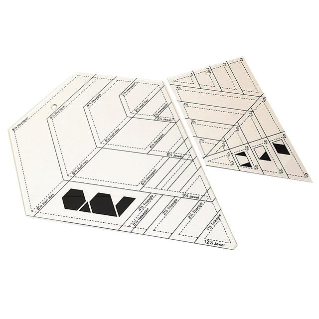 2 Pcs DIY Patchwork Herrscher Kombination Erweiterte Acryl Patchwork Lineal Dicke 3mm Unterstützung Große Aufträge Schneider Lineal Stoff