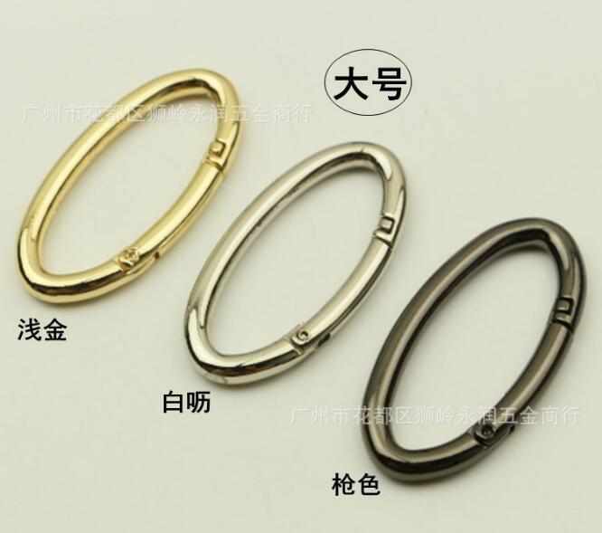 (10 Pieces/lot) DIY Handbags Shoulder Bags Links Oval Opening Spring Ring Bag Hook Hardware Accessories