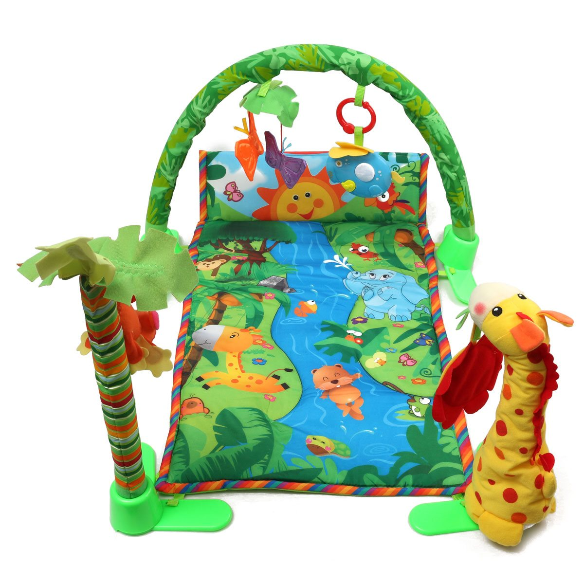 aliexpresscom  buy baby infant play mat rainforest musical gym  - aliexpresscom  buy baby infant play mat rainforest musical gym melodieslights deluxe activity tummy time floor crawl playmat toy game blanket from